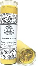 Art of the Root Crown of Success Scented 7 Day SOY Herbal Spell Candle (Fixed) Prosperity, Favorable Outcomes, Achievement & Obtaining Goals (Wiccan, Pagan, Hoodoo, Magick)