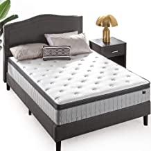 Zinus Support Plus iCoil Pocket Springs Queen Mattress Eurotop Bed - High Density Foam Layer - Mattress in a Box - Medium ...