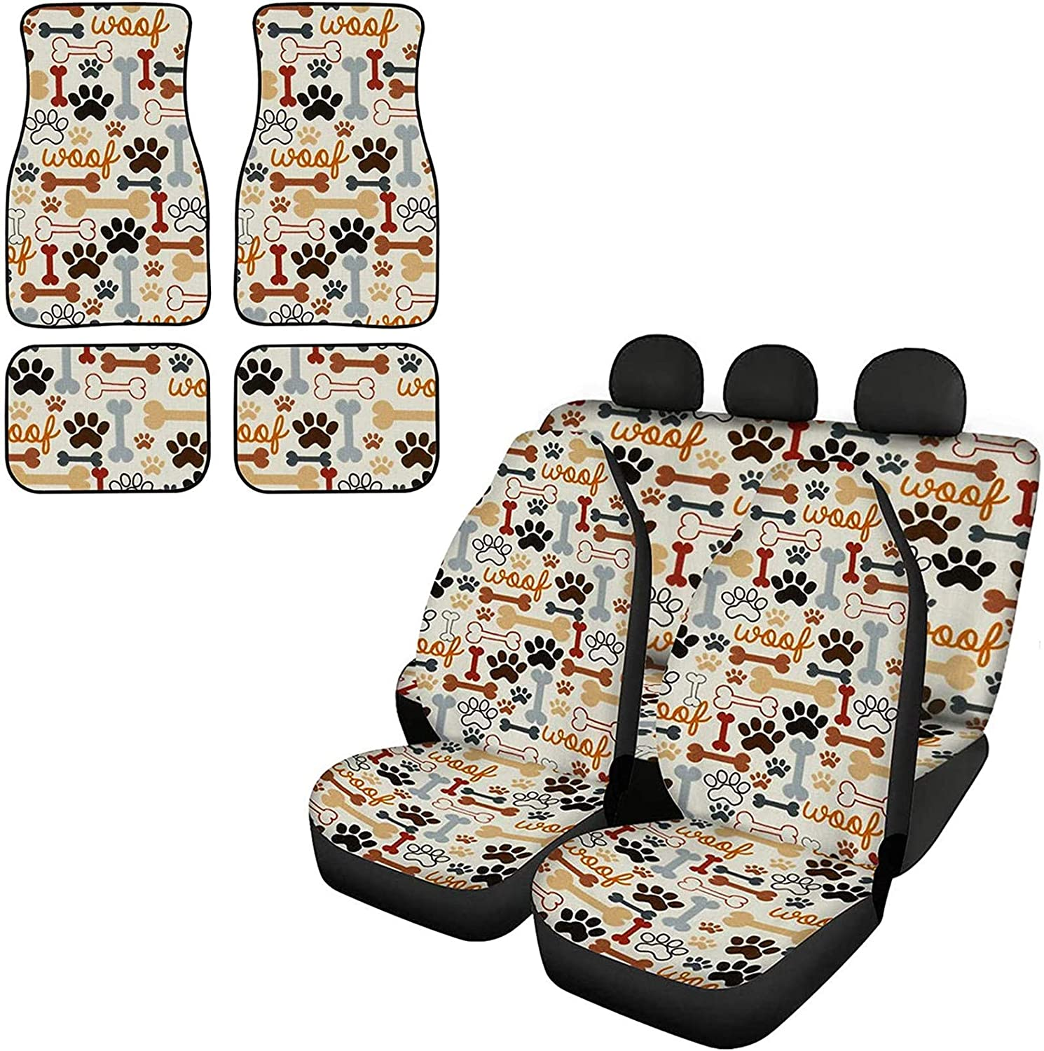 FUSURIRE Car Seat Covers Sales of SALE items from new works and Max 44% OFF Floor Mats Full Cute Pa Paw Set Dog