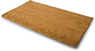 Pure Coco Coir Doormat with Heavy-Duty PVC Backing – Natural – Size:..