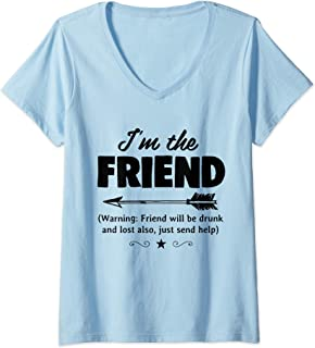 Womens If Lost Or Drunk Please Return To Friend V-Neck T-Shirt