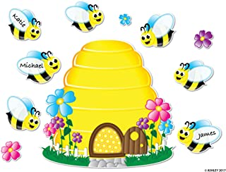 Ashley Productions ASH77024 Magnetic Bee Hive & Bees Mini Bulletin Board Set, 25 Pieces