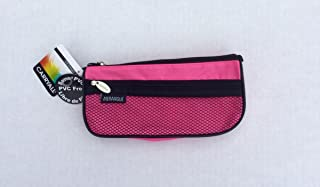 Merangue CARRYALL Triangle Pencil Case with Pocket … (pink)