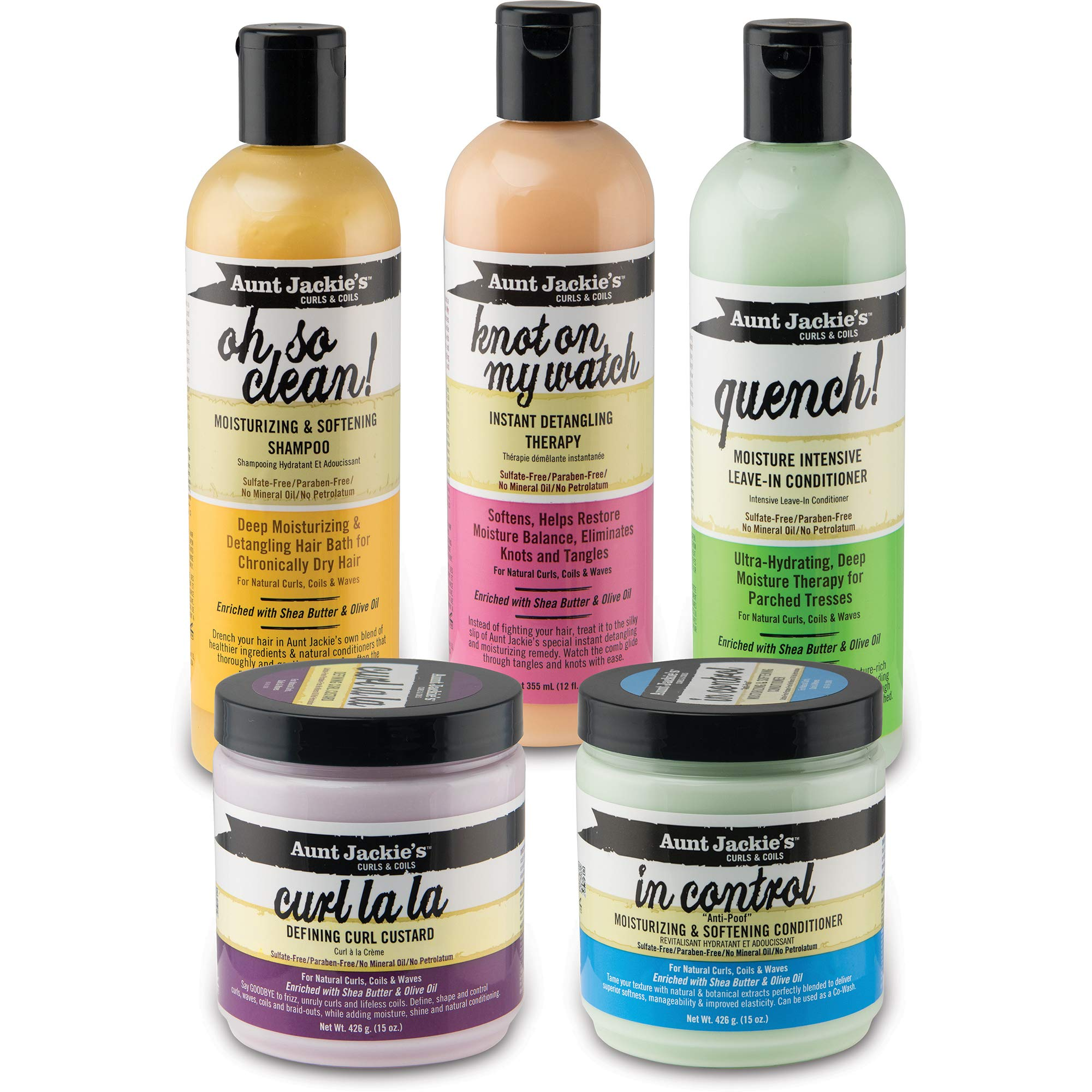 Aunt Jackie's Curl La La, Lightweight Curl Defining Custard, Enriched with Shea Butter & Olive Oil, Basic, 15 Ounce