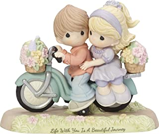 Precious Moments Life With You Is A Beautiful Journey Couple On Bicycle Bisque Porcelain Figurine 182009