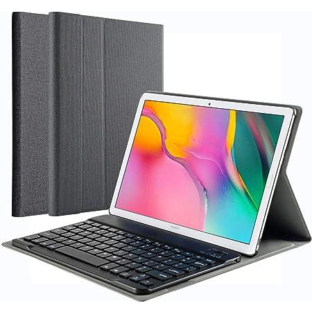 KILISON Funda con Español Teclado Estuche para Samsung Galaxy Tab A 2019 T510/T515 10.1, [Diseño Español Ñ] Teclado Bluetooth Inalámbrico Magnético ...