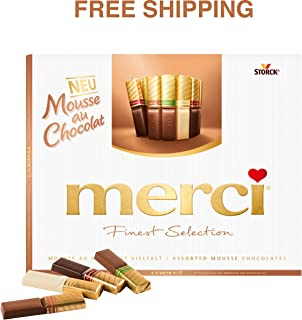 Merci Finest Selection- Mousse au Chocolat Variety with 4 exquisite mousse chocolate specialties 210 g, Merci/Germany