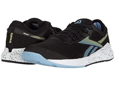 Reebok Nano 9 (Black/Fluid Blue/Lemon Glow) Women