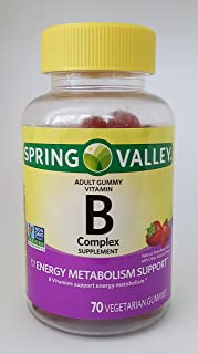 Spring Valley B Complex Supplement Energy Metabolism Support, 70 Vegetarian Gummies