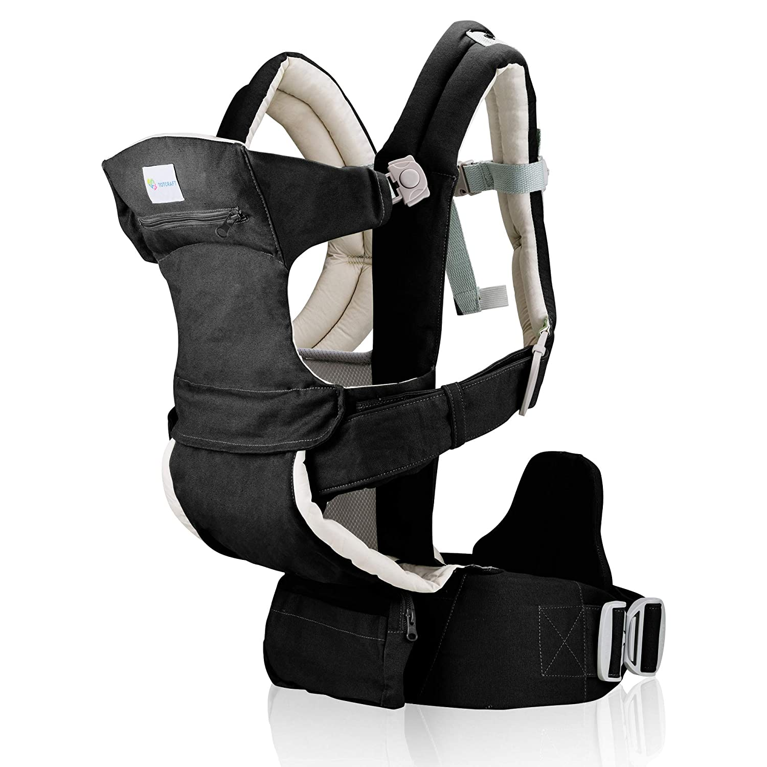 Baby Carrier New Born to Toddler –Infant & Child Carrier with Lumbar Support for Men & Women –Baby Hiking Backpack Carrier-All Carry Positions Baby Holder & Sling Carrier - Cotton (Black Camel)