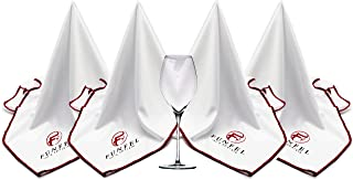 FUNFEL Large Microfiber Glass Polishing Cloth, Lint Streak Free Drying Towel 24x20 inch (4-Pack)