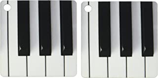3dRose Piano Keys - Key Chains, 2.25 x 4.5 inches, set of 2 (kc_29776_1)