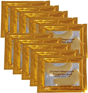 24K Gold Powder Gel Collagen Under Eye Masks Sheet Patch, Anti Aging,Remove Bags,Dark Circles &Puffiness,Anti Wrinkle,Mois...
