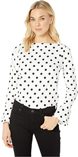 Cotton Bell Sleeve Top