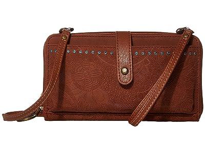 Sakroots Arcadia Smartphone Crossbody (Tobacco) Handbags
