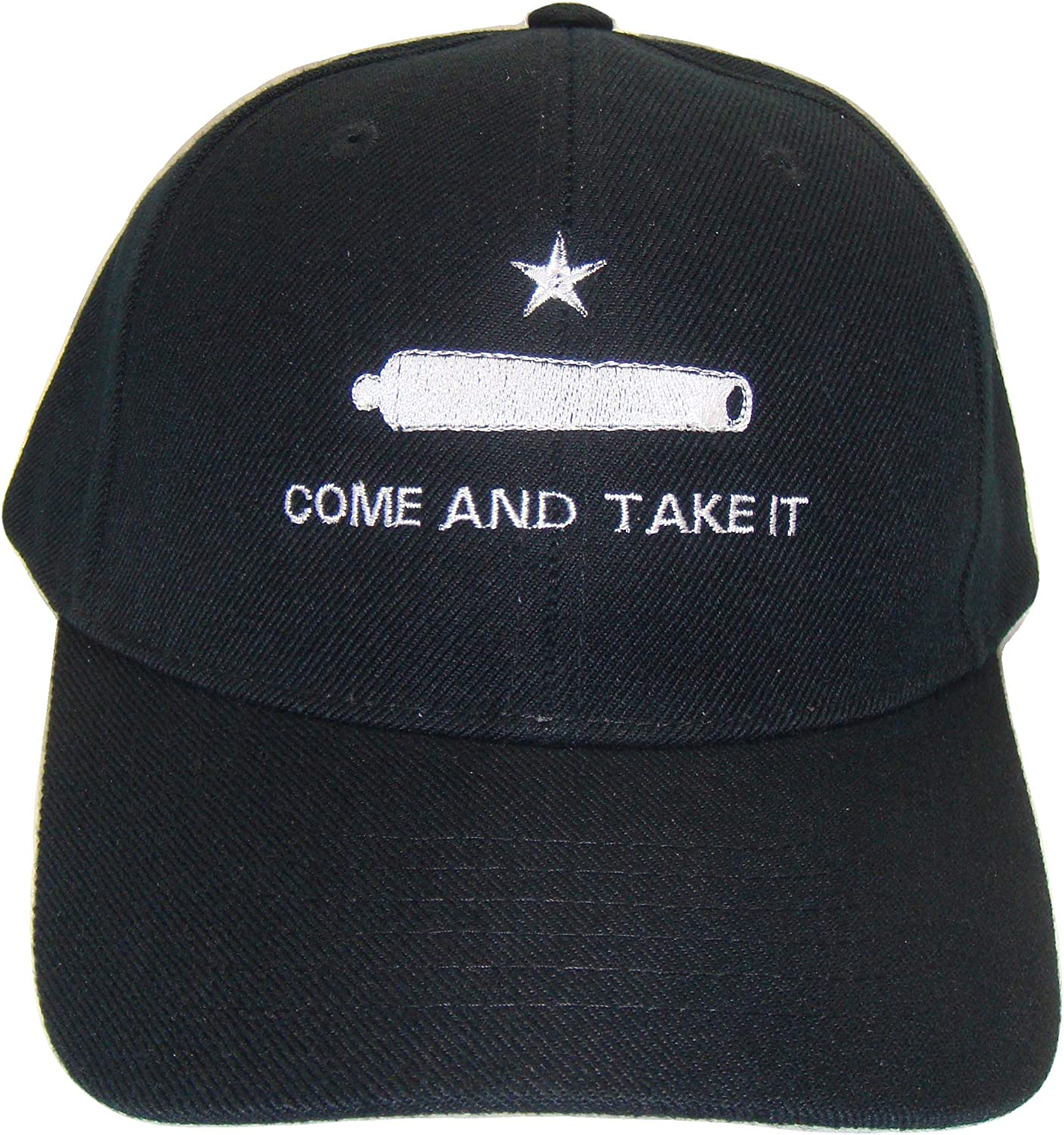 The Hat Shoppe Come and Take It Adjustable Baseball Cap (One Size, Black/White)