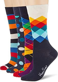 Happy Socks Men's Mix Gift Box Socks (Pack of 4)