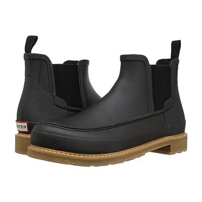 Hunter Original Moc Toe Chelsea Boots (Black) Men