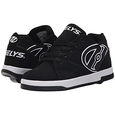 Heelys Propel 2.0 (Little Kid/Big Kid/Adult) (Black/White) Boys Shoes