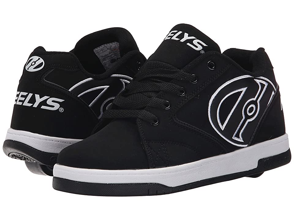 Heelys Propel 2.0 (Little Kid/Big Kid/Adult) (Black/White) Boys Shoes