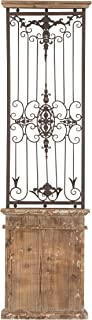 """Deco 79 80944 Metal Wood Wall Gate Makes You Fall in Instant Love, 71"""" H x 20"""" L, Distressed Brown Finish"""