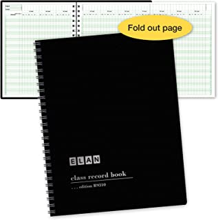 Class Record Book for up to 10 Weeks. 50 Names. Extra Large Grade Recording Squares. (R9310)