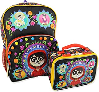 Disney Coco Kids Backpack and Lunch Box School Set