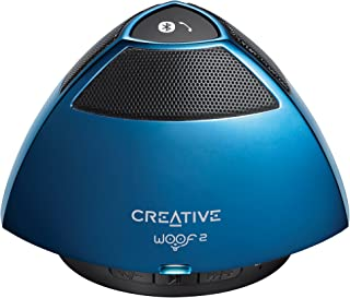 Creative CL-WOOF2-BL Creative Woof 2 Portable Micro Speaker, Blue [CL-WOOF2-BL] - Blue (Pack of1)