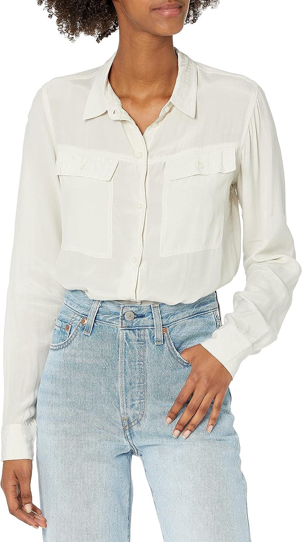 GUESS Women's Long Sleeve Mona Button Down Shirt