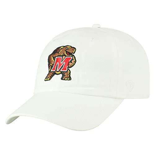 17c92f516cc Top of the World NCAA Men s Hat Adjustable Relaxed Fit White Icon