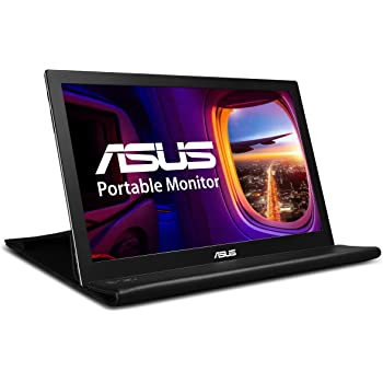 "ASUS MB168B 15.6"" WXGA 1366x768 USB Portable Monitor,Black/Silver"