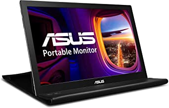 "ASUS MB168B 15.6"" WXGA 1366x768 USB Portable Monitor,Black/Silver"