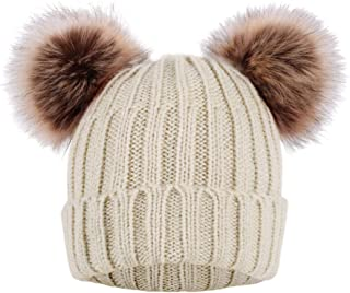 Best Cable Knit Beanie with Faux Fur Pompom Ears Review
