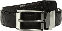 Steve Madden 30mm Perforated Reversible Belt (Big Kids)