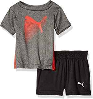 PUMA Baby-Boys Boys' T-Shirt & Short Set Shorts Set