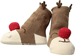 Reindeer Rattle Toe Socks (Infant)