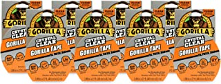 """Gorilla Crystal Clear Duct Tape, 1.88"""" x 9 yd, Clear, (Pack of 8)"""