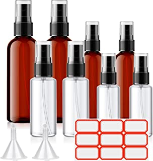 Spray Bottles, Eocean 8 Pcs Fine Mist Bottles, Empty Refillable Container for Hand Sanitizer, Essential Oils, Cleaning Pro...