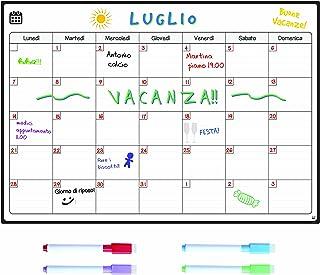 Smart Panda Calendario Magnético para Nevera - Ideal Planificador de Menú, Recordatorio, Lista de la Compra - Pizarra Magn...