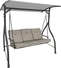 Garden Winds Replacement Canopy Top Cover for the Madison Swing - Standard 350 - Slate Gray