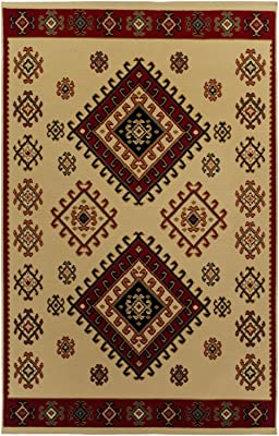 SUPERIOR Traditional Santa Fe Area Rug Collection (8 X10) - Ivory