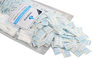 INTERTECK PACKAGING 0.5 Gram Silica Gel Packets - FDA Compliant, Rechargeable Desiccant Packets and Dehumidifiers (Non-Indicating, Tyvek 250 Pack)