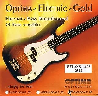 Optima 24 K Gold Plated Bass Guitar Strings .045-.105