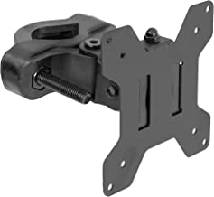 VIVO Black Steel Universal Bracket Pole Mount with Removable 75mm and 100mm VESA Plate | Fits up to 30 inch Screens (MOUNT-POLE01)