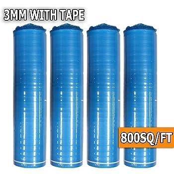 AMERIQUE 691322306910 800SQFT Premium 3MM Thick Super Quiet Floor Underlayment Padding with Tape & Vapor Barrier 3-in-1 Heavy Duty, 800 Squareft Royal Blue Square Feet (4 Rolls)