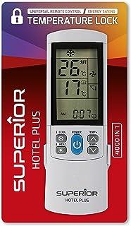 Superior Electronics SUPCU004 Hotel Plus - Mando a Distancia Universal para climatizadores, 4000 códigos, Ahorro de energía/Bloqueo de Temperatura