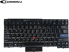 SUNMALL New Laptop Keyboard with Pointer Compatible with Lenovo ThinkPad T400S T410 T410S T410I T410SI T420 T420I T420S T510 T510I T520 W510 W520 X220 X220I X220S X220T US Layout Black