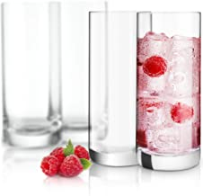 JoyJolt Stella Lead Free Crystal Highball Glasses Barware Collins Tumbler for Water, Juice, Beer, and Cocktail (Set of 4)-...