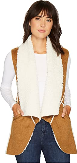 Dylan by True Grit - Flannel & Sherpa Road Trip Vest with Pockets