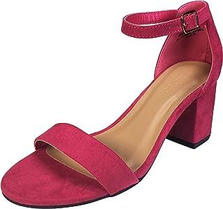 9cc1f9513eee Amazon.com  Pink - Heeled Sandals   Sandals  Clothing